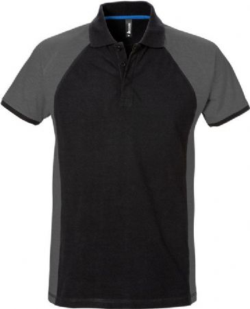 Fristads Acode Polo Shirt 7650 PIQ (Black/Grey)